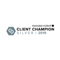 Martindale-Hubbell Client Champion Silver 2019