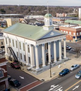 Overhead view of Davidson County Courthouse